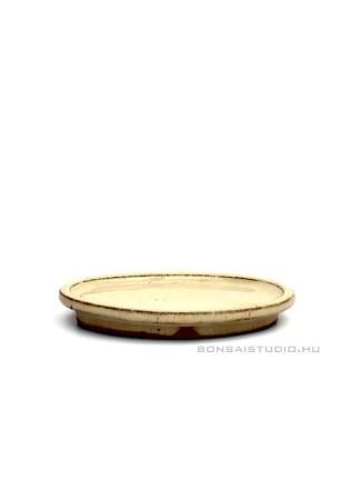 Bonsai alátét 12cm ovális beige