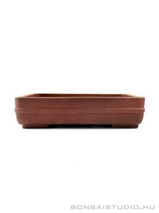 Téglalap alakú bonsai tál alacsony lábakon - kerekített sarkokkal 01.