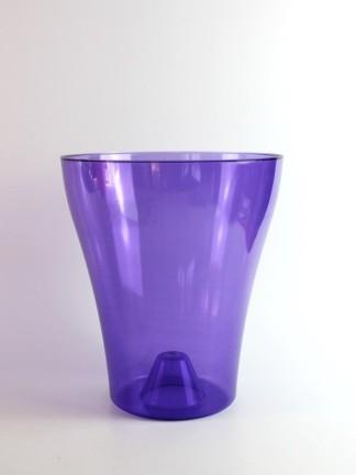 Műanyag orchidea kaspó 18-as - lila