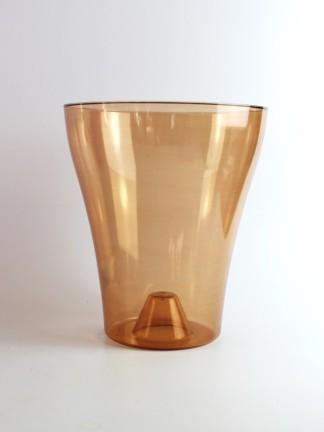 Műanyag orchidea kaspó 18-as - bronz