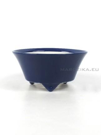 Kék kerek japán shohin bonsai tál