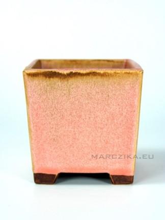 Kaszkád rózsaszín bonsai tál - 9 x 9 x 9 cm