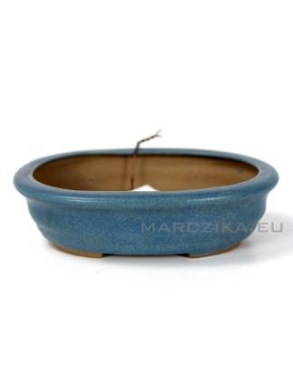 Kék ovális bonsai tál - 12 x 10 x 3,5 cm