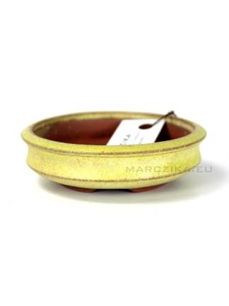 Sárga kerek bonsai tál - 9,5 x 3 cm